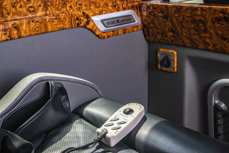 Hệ thống ghế Massage với 8 chế độ khác nhau